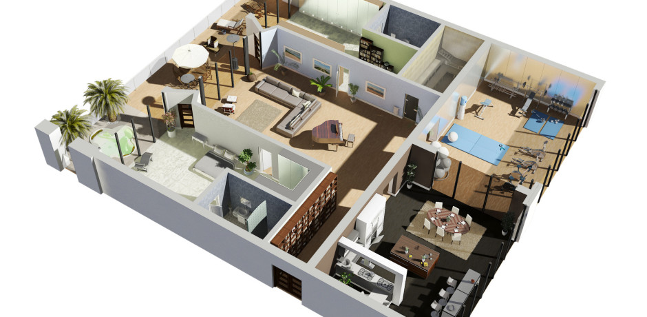 3d floorplan 3d architectural rendering for Floorplans 3d